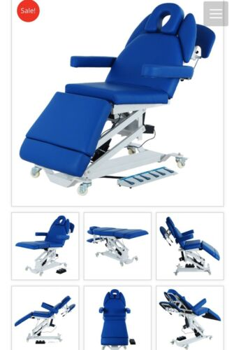 BRAND NEW HI LO ELECTRIC PHYSICAL THERAPY TABLE, BLUE, NEW WITH 1 YEAR WARRANTY