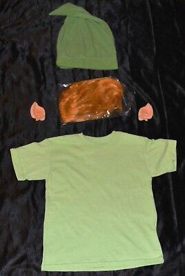 Link From Zelda Shirt Wig Ears Hat Halloween Costume Kids Boys Size 6-8 S Youth - Link From Zelda Halloween Costumes