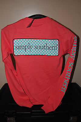 NWT Simply Southern Pink Womens Sz. XS (Extra Small) Long Sleeve T-Shirt