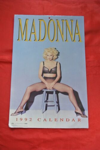 "Rare Madonna Vintage 1992 Official 17"" X 11"" Calendar MUST SEE!!!"