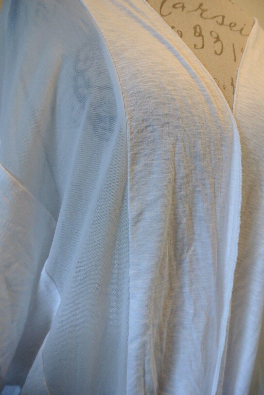 NWT 78 Love Scarlett Modal Open Soft Lightweight Loose Cardigan New Ivory White - $7.99