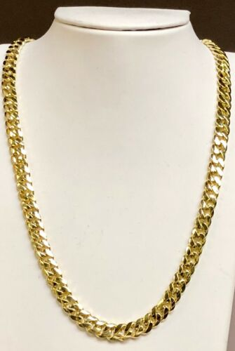 18k Solid Yellow Gold Miami Cuban Curb Link 18 Inch 8 Mm 85 Grams Chain/necklace