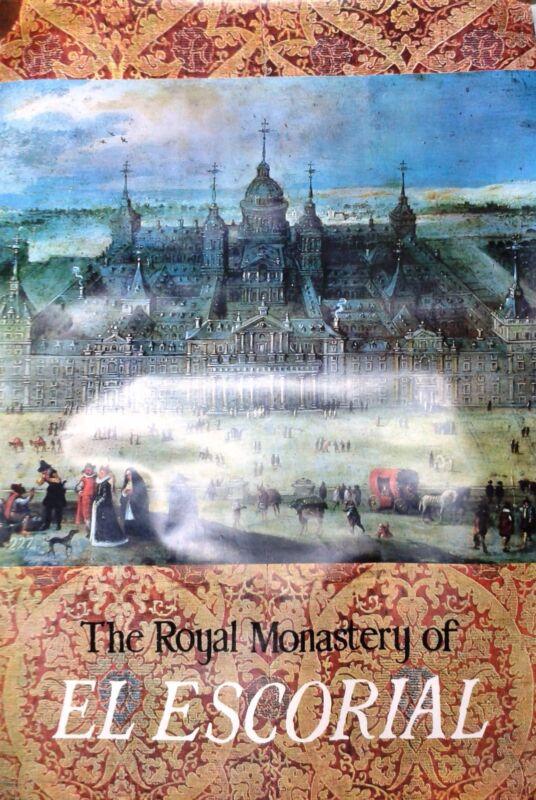 Vintage rare travel poster Spain The Royal Monastery of El Escorial Madrid