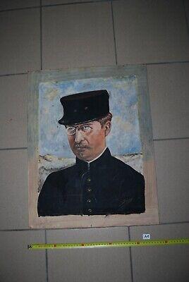 AF1 Ancien portrait - Le Roi Albert - Signé Steppe V