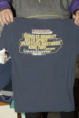 Charles Bradley Delta Spirit Austin 2015 concert t shirt Couch Trippin soul