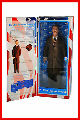 "President Theodore Roosevelt 12"" Talking Toy Presidents Collectible Figure NIB"