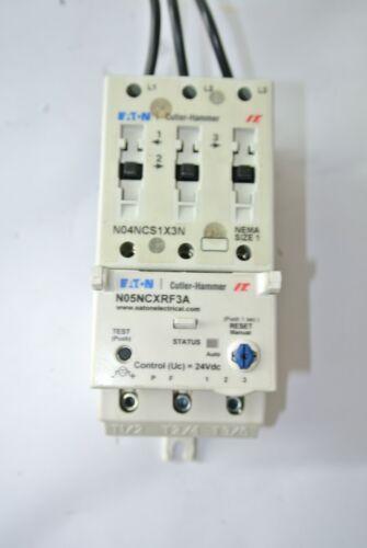 Eaton Cutler Hammer N05NCXRF3A NEMA Overload Relay + N04NCS1X3N Contact Block
