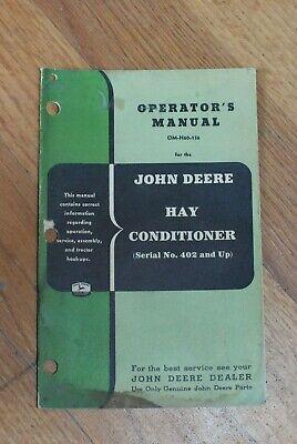 John Deere - Hay Conditioner - Operators Manual- Om-h60-156