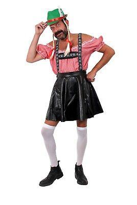 Oktober Fest Dress (MENS BAVARIAN STAG NIGHT OKTOBER FEST COSTUMES FUNNY FANCY DRESS HAT WITH)