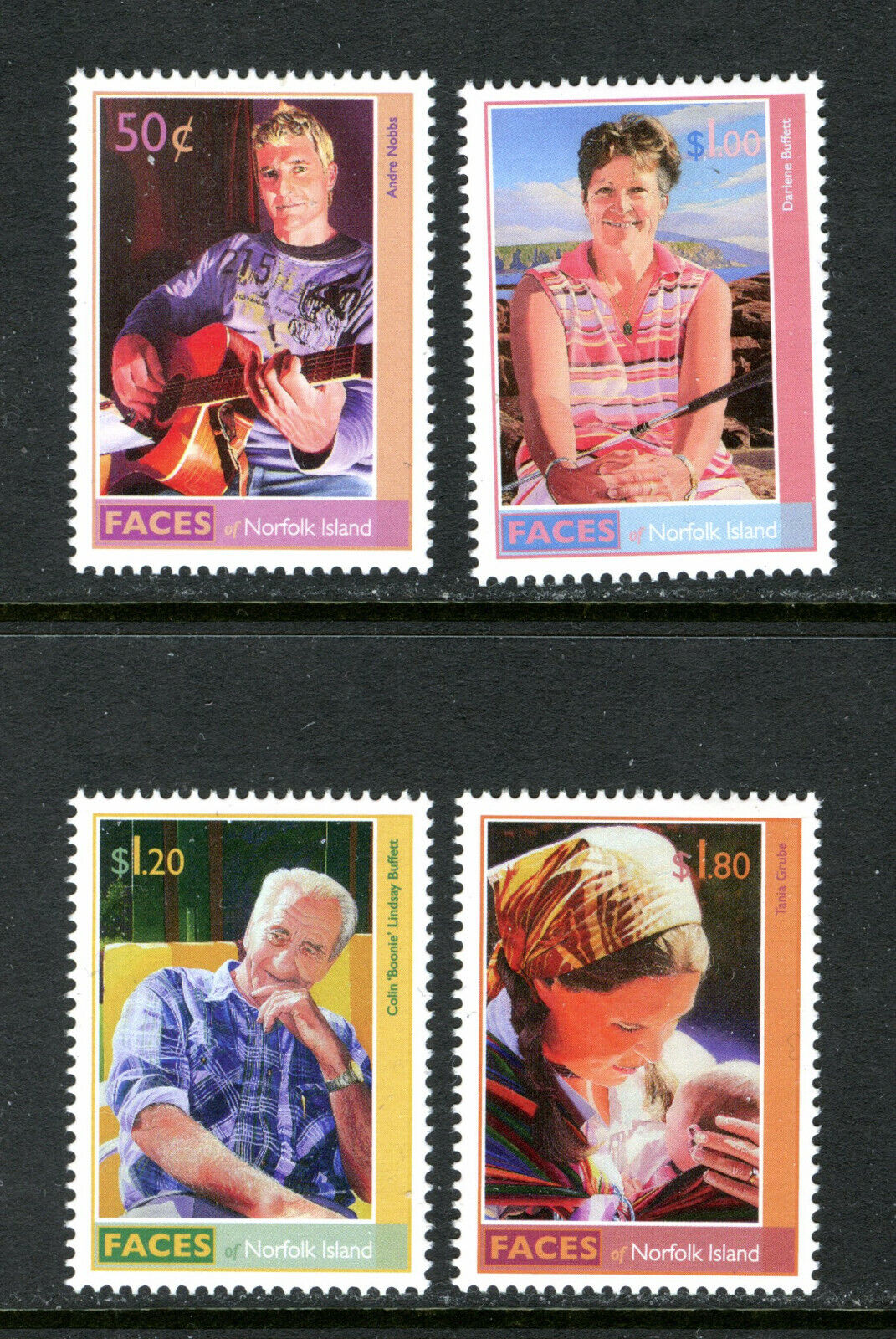 NORFOLK 934-37, 2008 FACES (HERITAGE), MNH (NOR091)