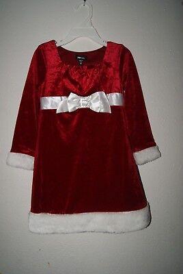 Zenzi Girls RED Velvet Christmas HOLIDAY Santa's Dress Size 4 - New - Girls Red Christmas Dresses