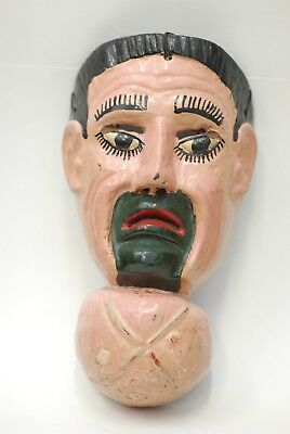 Antique Goiter Mask (Patzcaa Dance) - Huehuecho-Rabinal mayan folk art