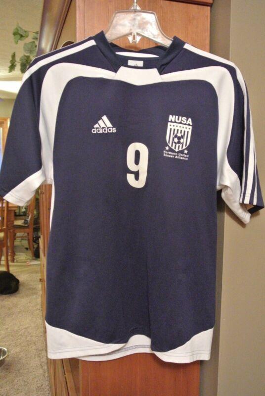Mens size Small Adidas short sleeve jersey/shirt, NUSA #9