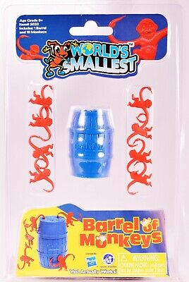 Worlds Smallest Barrel of Monkeys Classic  Miniature Toy Game