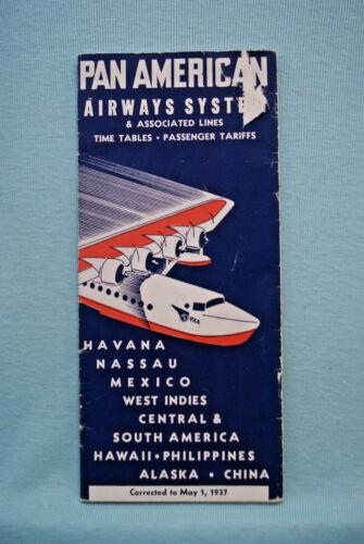 Pan Am Timetable - May 1, 1937