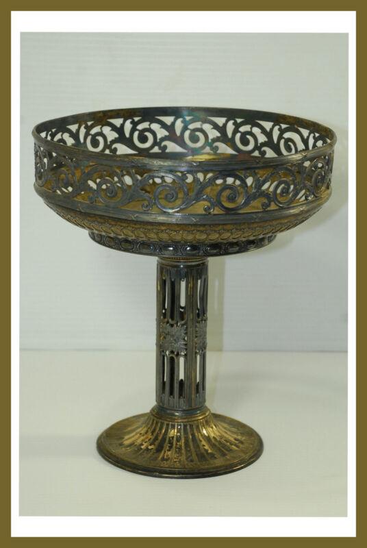 Vintage ORIVIT AG 482 SilverPlate Fruit Bowl Vase on Pedestal