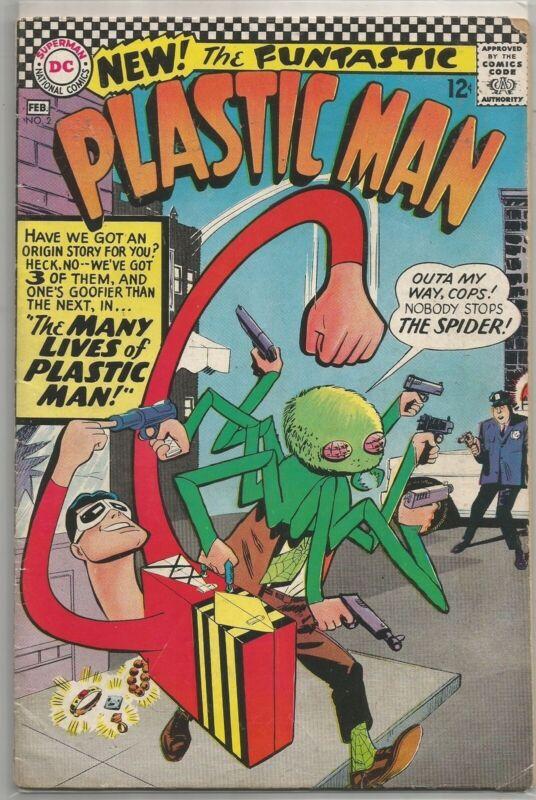 Plastic Man #2 DC (1967) Silver Age Comic Book FN/FN+