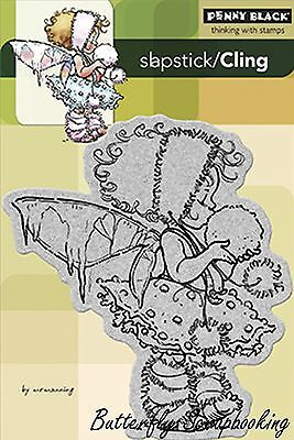Winter Fairies (Winter Fairy, Cling Style Unmounted Rubber Stamp PENNY BLACK - NEW,)