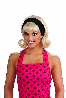 Doo Wop Halloween Costumes (Forum Novelties 50s Flip Doo Wop Sock Hop Blonde Wig Halloween Costume)
