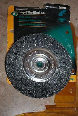 "6""  Columbian Crimped Wire Wheel 1/2"" - 5/8"" Arbor Hole 52006"