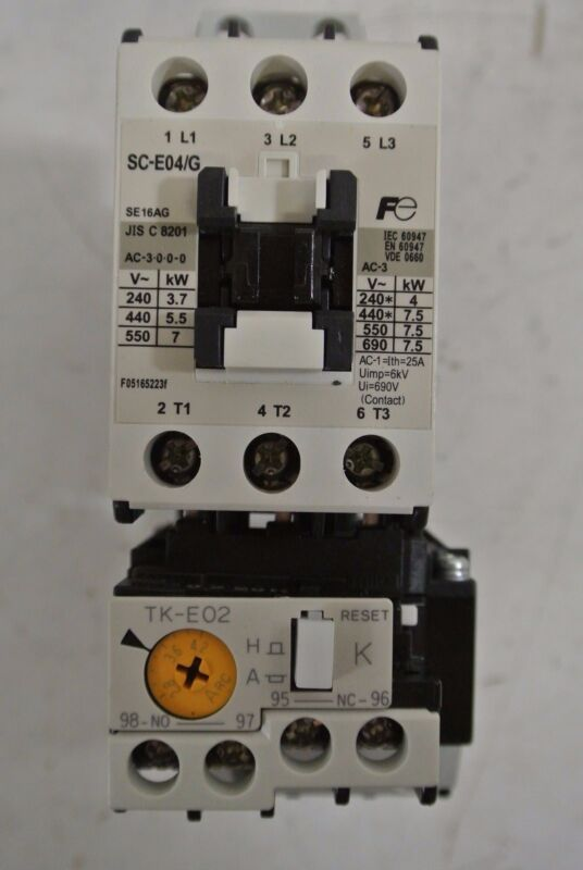 Fuji Electric Contactor Cat: SC-E04/G w/ TK-E02 Overload