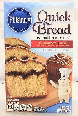 Pillsbury Cinnamon Swirl Quick Bread & Coffee Cake Mix 17.4 oz