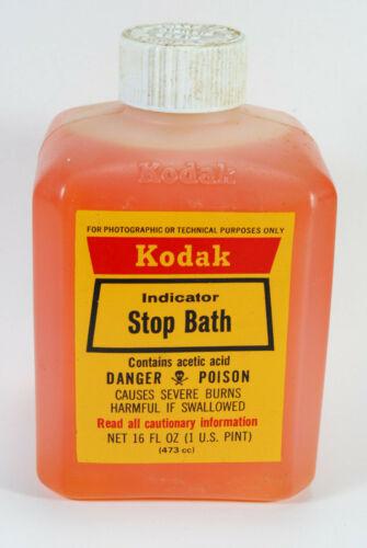 Kodak Indicator Stop Bath 16 Ounce Bottle from New Old Stock