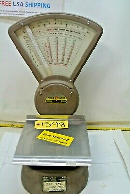 Vintage Pitney Bowes Postage Mailroom Scale 0 To 3 Lbs. Model S - 103 15481