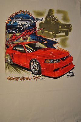 My Generation Never Grow Up Ford Mustang Graphic Tee M L Xl Xxl Cobra Shelby