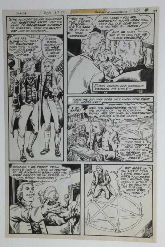 Original comic art  1979 * House of Mystery #273