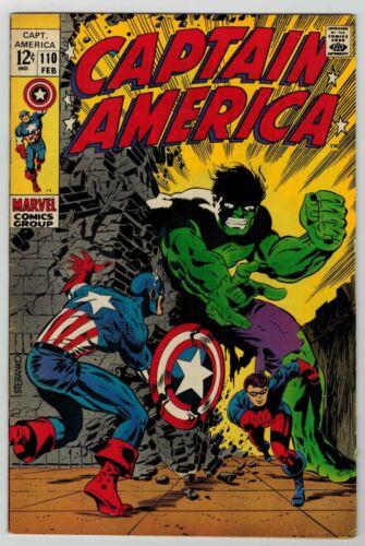 CAPTAIN AMERICA # 110 - STERANKO COVER - VS. HULK - 1st MADAME HYDRA/VIPER - FN