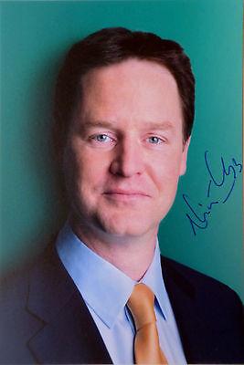 NICK CLEGG Hand Signed Photo British MP Politician Former Deputy Prime Minister