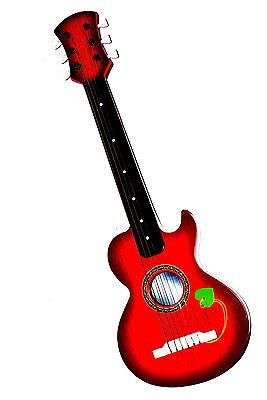 Jouet Guitare pour enfants ACOUSTIQUE MUSIQUE AVEC 6 Cordes en bois optique