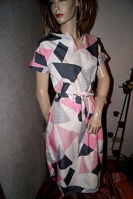 Seidiges Kleid (Ganz leichtes seidiges Kleid cremeweiß rosa grau neuwertig nw S)