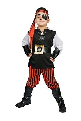 Pirate Costume boys Kids  buccaneer Size S M 5,6,7,8 Ahoy Matey!