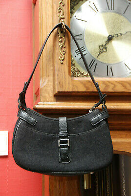 """Sac à mains de marque""""Esprit"""" simili cuir et tissu gris et noir Très Bon Etat!"""