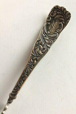RARE 1889 ROGERS & HAMILTON MONARCH Silverplate Twist Butter Knife Monogram Ella