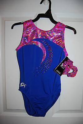 GK Elite Gymnastics Leotard -Adult X-Small - Royal/Pink