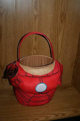 Easter Basket Halloween Costume (Avengers IRON MAN Halloween Costume Easter Plush Basket Bag Bucket)