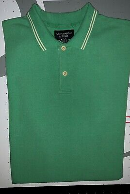 Men's Abercrombie & Fitch Short Sleeve Polo Shirt - Size Medium