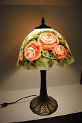 Reverse Painted Glass Lamp Shade
