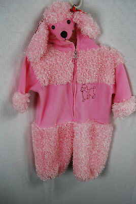 Pink Poodle Puppy Toddler 1 Piece Costume 2T - Poodle Costume Toddler
