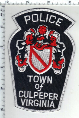 Culpepper Police (Virginia) Smaller Uniform Take-Off Shoulder Patch from 1980