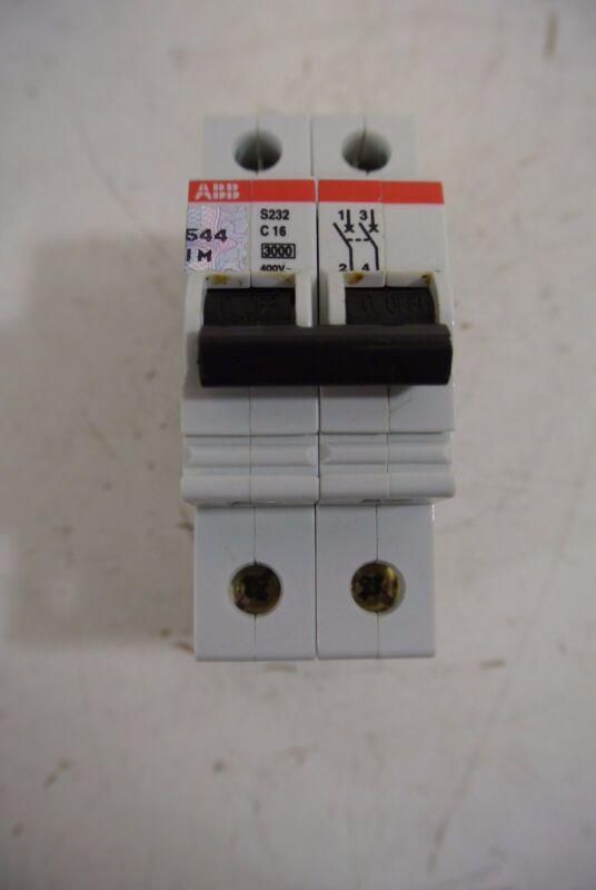 ABB 2 Pole 400 Volt Circuit Breaker Cat: S232-C16
