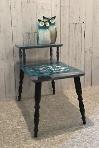 VINTAGE TWO TIERED END TABLE