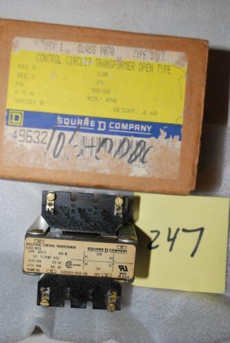 Square D Transformer 9070 Open Type EO-1 120V to 24V 50 VA @ 60 Hz Series B