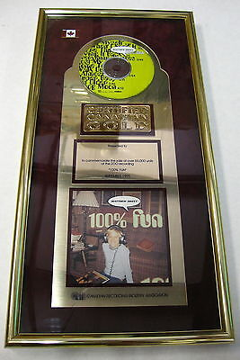 Matthew Sweet 100  Fun 1995 Canada Gold Record Sales Award Zoo Entertainment