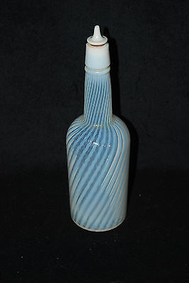 RARE VICTORIAN LARGE OPALESCENT SWIRL BAR BARBER BOTTLE 1890'S