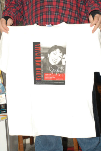 RYOKO MORIYAMA IN CONCERT T SHIRT LOS ANGELES 2001 JAPAN JAPANESE POP STAR