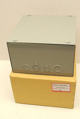 10 X 10 X 6 Metal Lift Off Screw Cover Junction Box Nema 1 Indoor Enclosure
